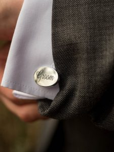 Groom engraved on cuff link