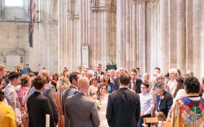 Beautiful Romsey Abbey wedding for Laura and Nicolas