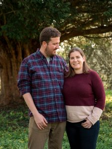 Rural Hampshire engagement shoot – woman ooking at camera