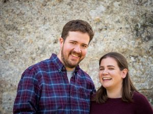 Rural Hampshire engagement shoot – couple smiling together
