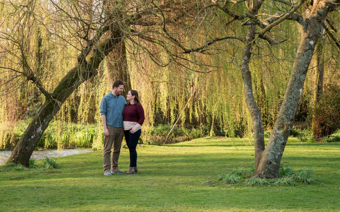 Rural Hampshire engagement shoot for Jen and Stewart