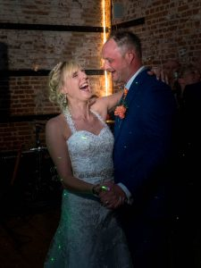 Bride and groom enjoy their first dance at The Three Tuns, Bransgore