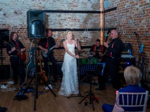 Bride sings with her band at The Three Tuns, Bransgore