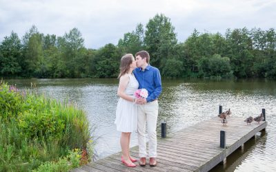 Lakeside Country Park couple portraits for Jenny and Paul