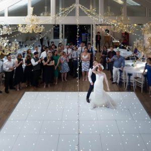 Bride and groom perform a virtuoso first dance at their  Marwell Hotel wedding reception