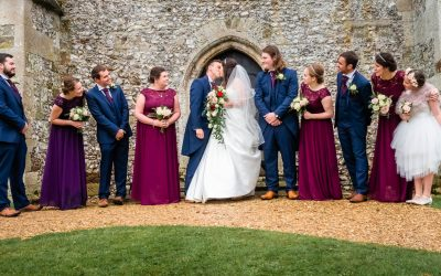 Wiltshire country church wedding for Emma and James