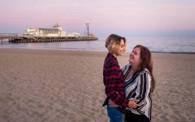 Bournemouth Pier engagement shoot with Dannielle and Rhiannon