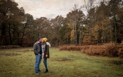 New Forest engagement shoot with Leanne and Nathan