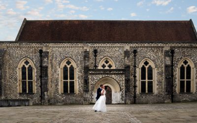 Winchester Registry Office wedding for Luke and Aisha