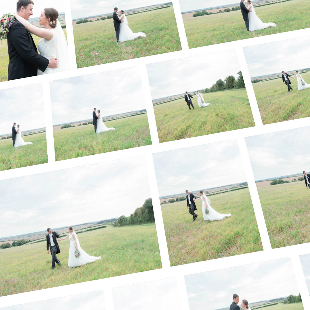 Images of romantic portraits as part of an online wedding gallery