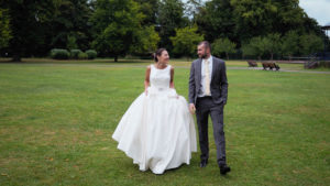 'Newlywed' couple in the Memorial Park, Romsey – Dom Brenton Photography