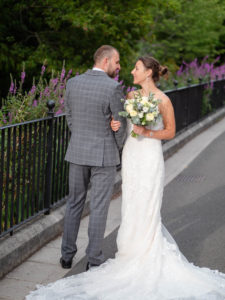 'Newlywed' couple in Abbey Water, Romsey – Dom Brenton Photography