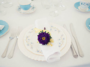 Chinaware by Swingletree Vintage and posy by Just Add Flowers