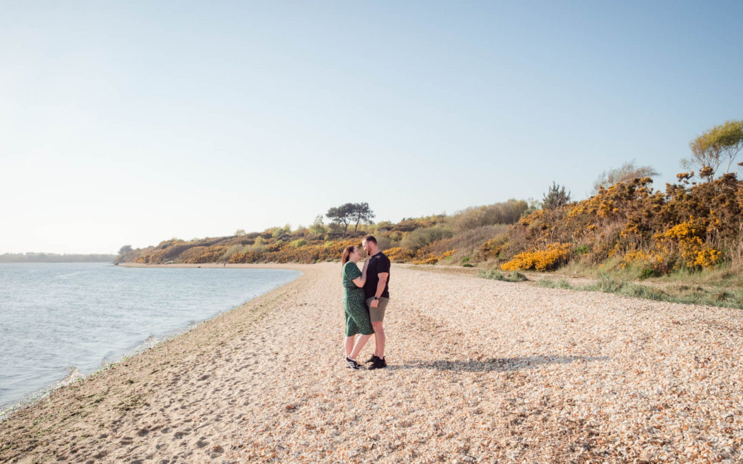 Dorset beach engagement photo session with Hollie and Kye