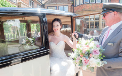 English rose styled wedding shoot at The Montagu Arms Hotel
